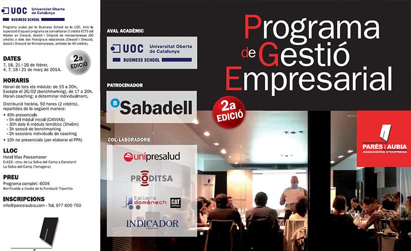 Nova edició del Programa de Gestió Empresarial